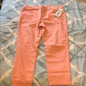 Jessica Simpson Rolled Crop Skinny- Peach Color
